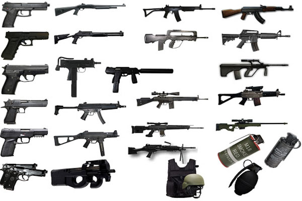 Nhiều vũ khí, trang bị được làm dựa trên phiên bản thực tế