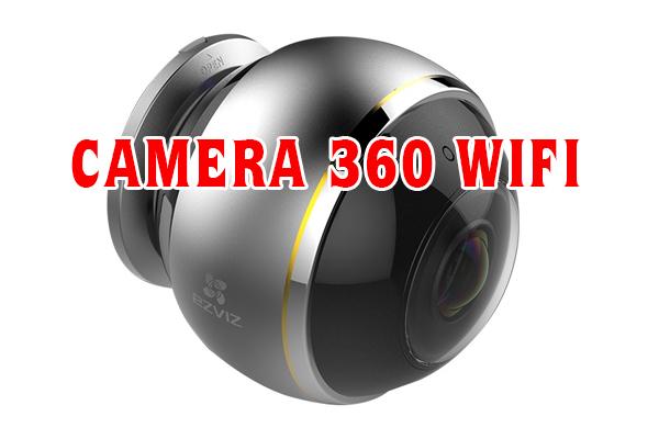 Camera 360 được thiết kế với hai bộ phận chính là phần thân và phần camera có thể chuyển động phía trên