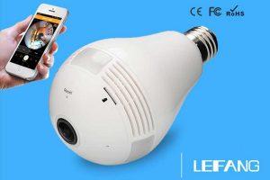 Camera ngụy trang bóng đèn kín đáo, tiện lợi