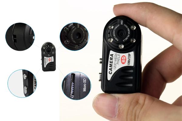 Camera siêu nhỏ Q5 được trang bị ống kính có độ phân giải lên tới HD 720p, tốc độ 30Fps, độ phân giải lên đến 12 Megapixel