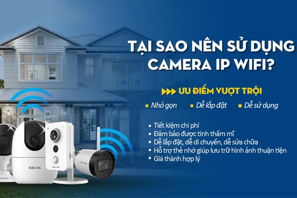 Dùng camera wifi không dây rất nhỏ gọn, dễ lắp đặt và dễ sử dụng