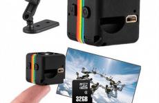 Camera mini SQ11 hỗ trợ thẻ nhớ 32GB