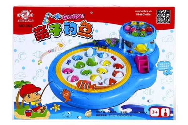 Bộ đồ chơi câu cá 2 tầng với nhiều màu sắc bắt mắt