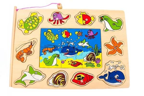Bộ đồ chơi bảng câu cá và ghép hình đại dương
