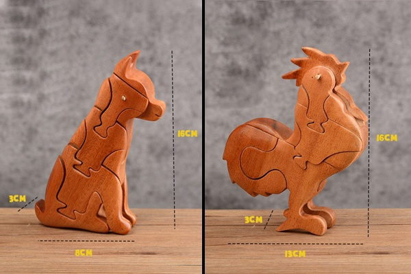 Mô hình động vật bằng gỗ lắp ghép 3D SmartHome Toys
