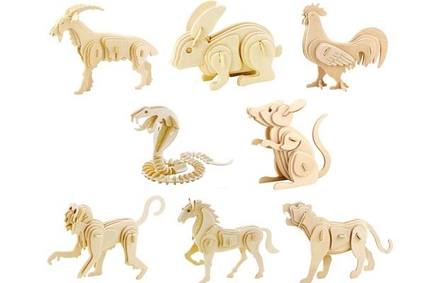 Bộ đồ chơi con vật lắp ráp mô hình bằng gỗ HA378