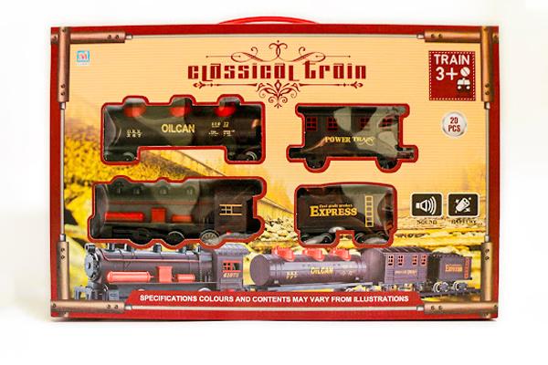 Bộ đồ chơi đường ray tàu hỏa 5 toa cỡ lớn Model PYK7 Train