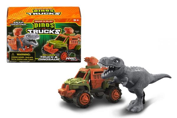 Đồ chơi lắp ráp khủng long và xe chiến đấu Road Rippers