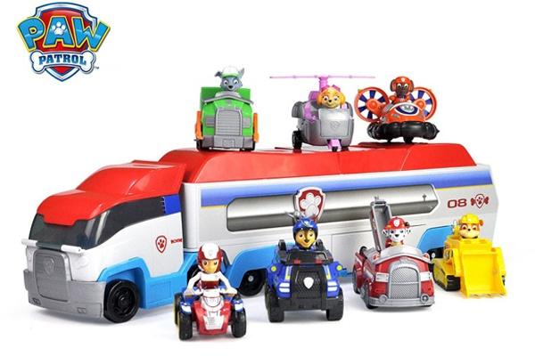 Bộ đồ chơi xe buýt tuần tra Paw Mission