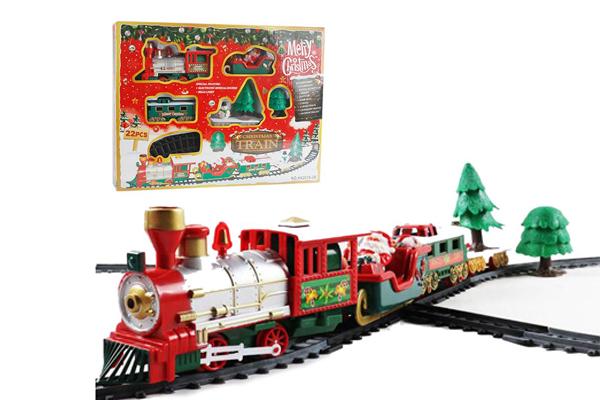 Bộ đồ chơi xe lửa giáng sinh với âm nhạc Locomotive Model Toys