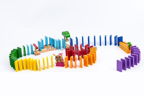 Đồ chơi xếp hình bằng gỗ Domino Hello Sport DMN11