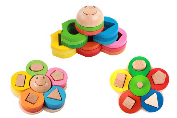 Đồ chơi xếp hình bằng gỗ DC19 Hinata với nhiều dạng hình học