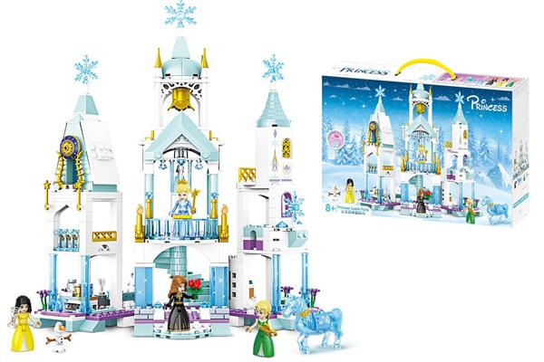 Đồ chơi xếp hình lego lâu đài tuyết cho bé gái QT6