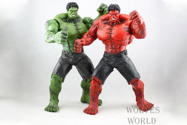 Mô hình người khổng lồ xanh Hulk Và Red Hulk Đỏ 26cm