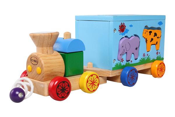 Tàu hỏa đồ chơi bằng gỗ Winwintoys đảm bảo an toàn cho bé