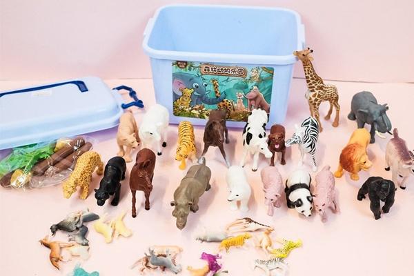 Thùng đồ chơi con vật rừng hoang 58 chi tiết